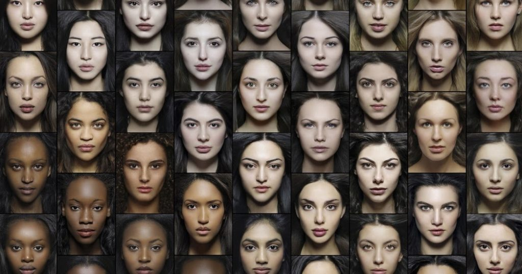 Fisionomia femminile delle razze umane.